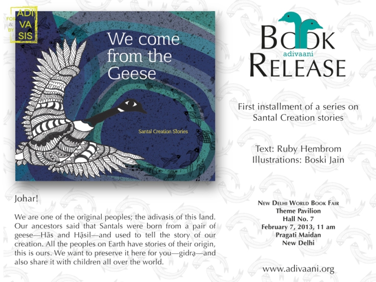 Boski Jain & Ruby Hembrom's first children bookl